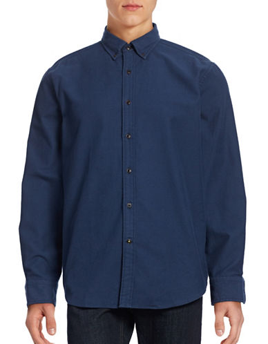 Nautica Cotton Flannel Shirt-MOON INDIGO-Medium