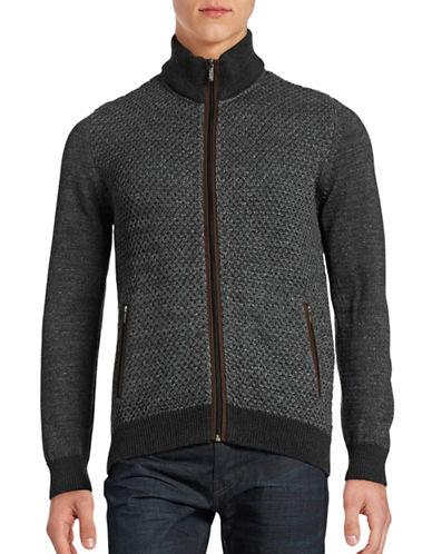 Bugatti Wool-Blend Mock Neck Sweater-GREY-Small 88706642_GREY_Small