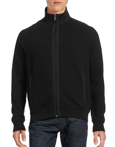 Bugatti Trimmed Zip Sweater-BLACK-Small 88620515_BLACK_Small