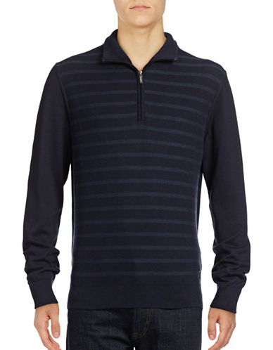 Bugatti Tonal Striped Sweater-BLUE-X-Large