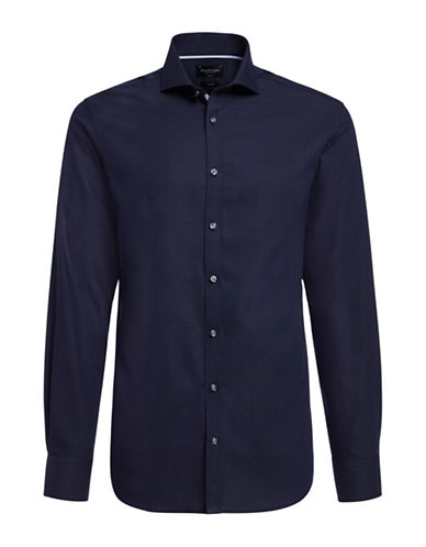 Bruun And Stengade Logan Dotted Shirt-NAVY-EU 40/US Medium