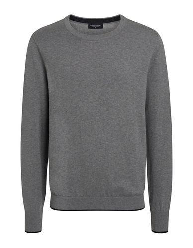 Bruun And Stengade Mercury Ribbed Crew Neck Sweater-LIGHT GREY-XX-Large