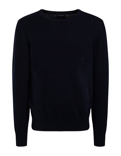 Bruun And Stengade Mercury Ribbed Crew Neck Sweater-NAVY-XX-Large