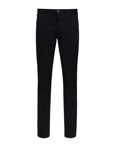Bruun And Stengade Flash Stretch Modern Fit Chinos-BLACK-38X32