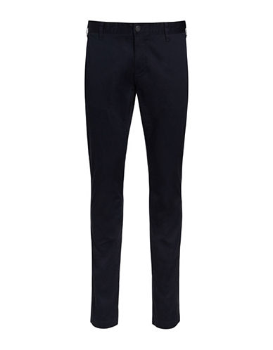 Bruun And Stengade Flash Stretch Modern Fit Chinos-NAVY-32X32
