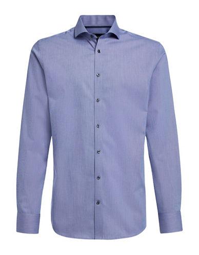 Bruun And Stengade Rogic Solid Sport Shirt-BLUE-EU 38/US Small 88672527_BLUE_EU 38/US Small