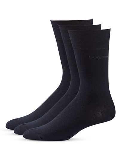 Bugatti Mens Three-Pack Sensitive Comfort Top Socks-DARK NAVY-7-9