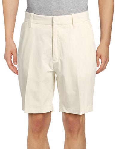 Nautica Twill Flat-Front Shorts-MARSHMALLOW-30