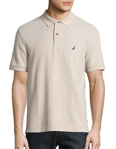 Nautica Solid Performance Deck Shirt-BEIGE-Medium