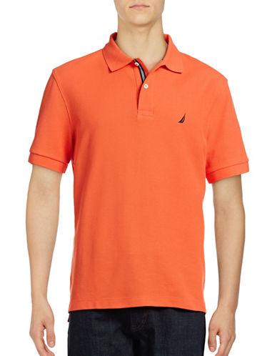 Nautica Solid Performance Deck Shirt-ORANGE-X-Large 88849586_ORANGE_X-Large