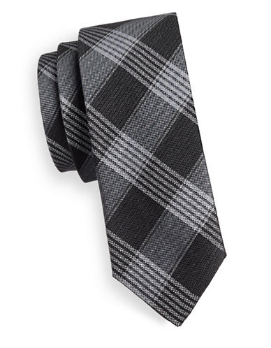 Sondergaard Check Tie-CHARCOAL-One Size