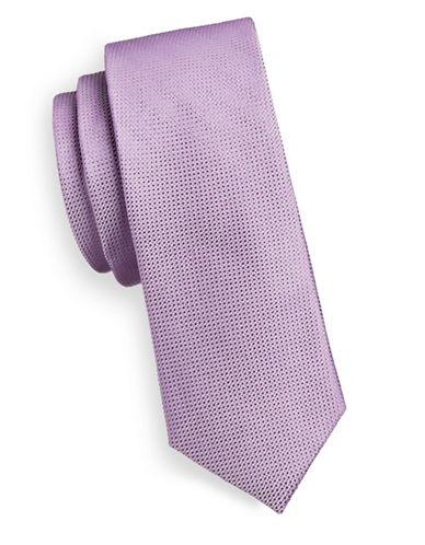 Sondergaard Dotted Silk Tie-PURPLE-One Size