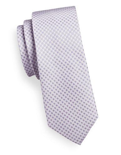 Sondergaard Dotted Cotton-Blend Tie-PURPLE-One Size