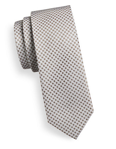 Sondergaard Star Silk Tie-GREY-One Size