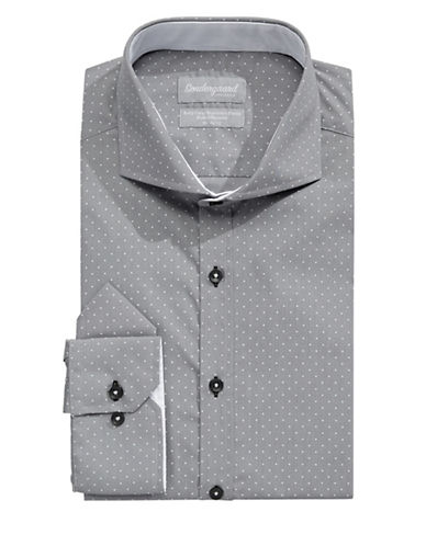 Sondergaard Modern-Fit Dot Dress Shirt with Pocket Square-GREY-15-34/35