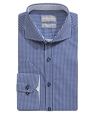 Sondergaard Modern-Fit Printed Dress Shirt with Pocket Square-BLUE-16.5-32/33