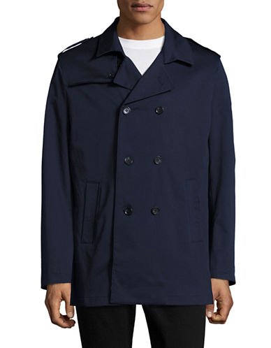 Sondergaard Slim-Fit Double-Breasted Rain Coat-BLUE-40