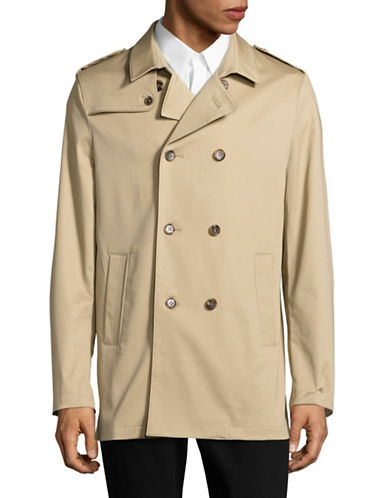 Sondergaard Slim-Fit Double-Breasted Rain Coat-BEIGE-48