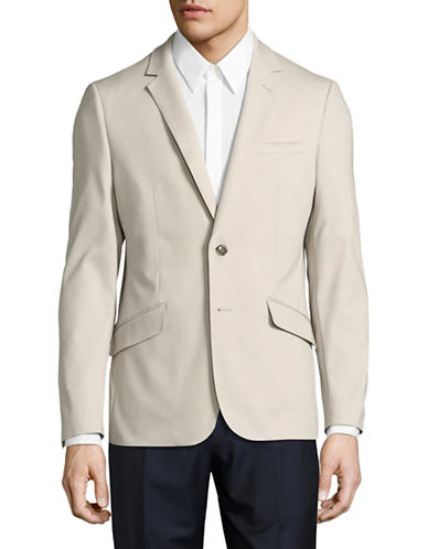 Sondergaard Striped Suit Jacket-BEIGE-40 Tall