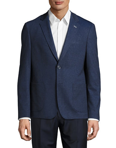 Sondergaard Slim-Fit Heathered Stretch Sports Jacket-BLUE-36 Regular