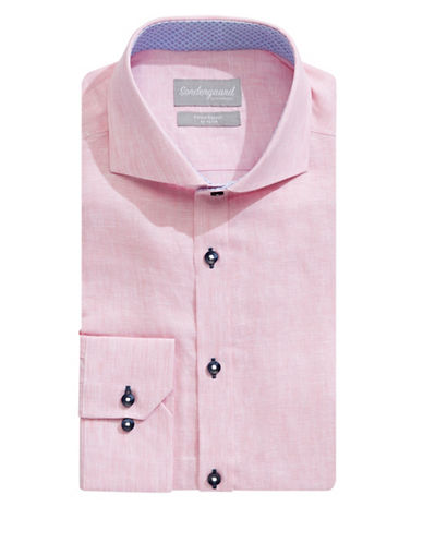 Sondergaard Modern-Fit Linen Dress Shirt-PINK-15.5-34/35