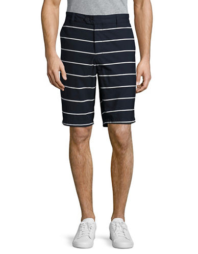 Nautica Slim Fit Striped Shorts-TRUE NAVY-36