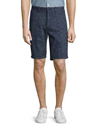 Nautica Slim Fit Leaf Print Shorts-NAVY-36