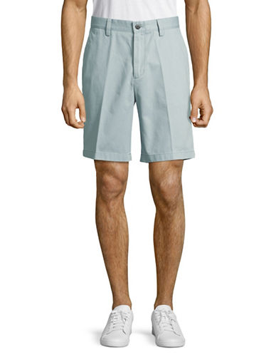 Nautica Classic Fit Flat Front Deck Shorts-GREY-40