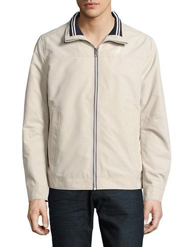 Nautica Lightweight Zip-Up Jacket-BEIGE-Medium 88913705_BEIGE_Medium