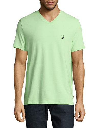 Nautica V-Neck Performance Tee-GREEN-X-Large 89023011_GREEN_X-Large