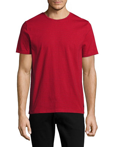 Nautica Striped Jersey T-Shirt-RED-Large 89023046_RED_Large