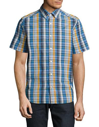 Nautica Poplin Plaid Sport Shirt-CLEARSKIES-Small