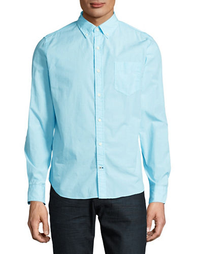 Nautica Slim Fit Sport Shirt-BLUE-Large