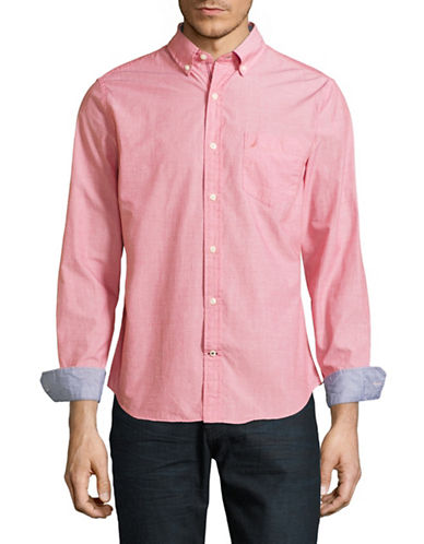 Nautica Slim Fit Sport Shirt-NAUTICA RED-X-Large