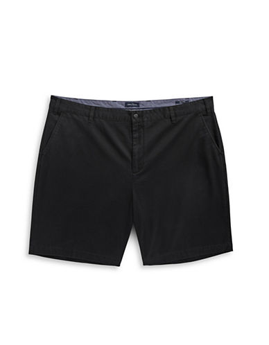 Nautica Big and Tall Deck Shorts-BLACK-46