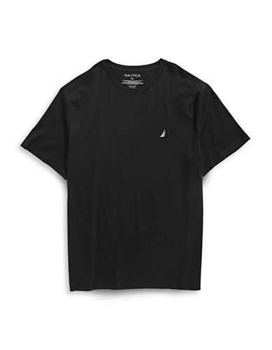 Nautica Cotton Short Sleeve T-Shirt-BLACK-4X Big