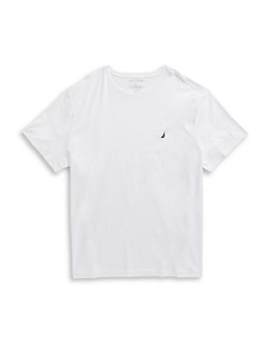 Nautica Cotton Short Sleeve T-Shirt-WHITE-4X Big
