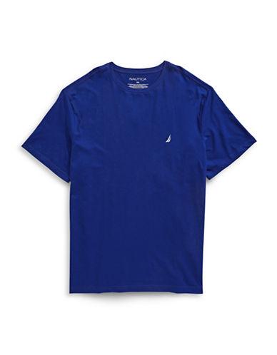 Nautica Cotton Short Sleeve T-Shirt-BLUE-4X Big
