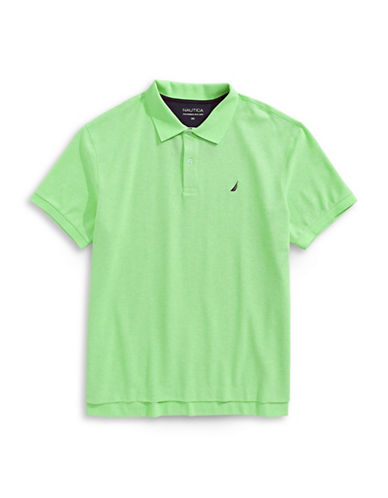 Nautica Big and Tall Pique Polo-GREEN-4X Big