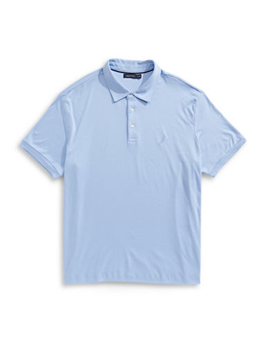 Nautica Big and Tall Solid Polo-BLUE-4X Big