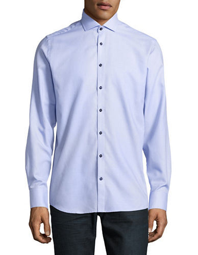 Bruun And Stengade Modern Fit Brickwork Sport Shirt-LIGHT BLUE-EU 40/US Medium