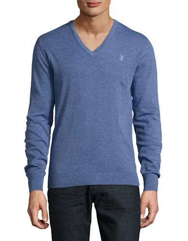 Bruun And Stengade Cotton V-Neck Sweater-BLUE-Medium 88946118_BLUE_Medium