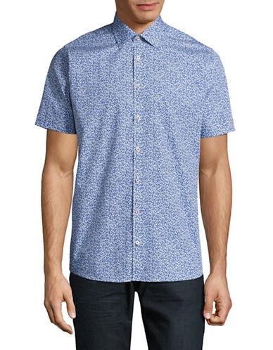 Bruun And Stengade Elia Floral Sport Shirt-BLUE-EU 44/US X-Large