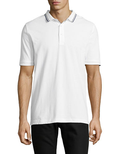 Bruun And Stengade Liam Knit Polo-WHITE-X-Large