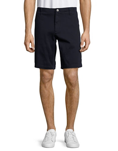 Bruun And Stengade Slim Fit Twill Shorts-NAVY-EU 38/US Small