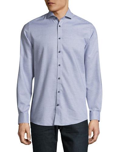 Bruun And Stengade Sakala Modern-Fit Check Sport Shirt-BLUE-EU 45/US XX-Large