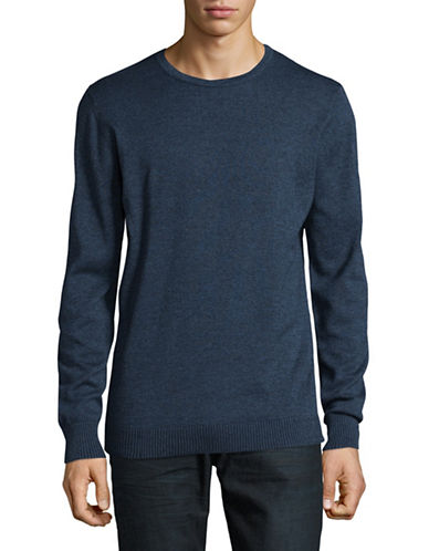 Bruun And Stengade Jupiter Crew Sweater-DARK BLUE-Medium