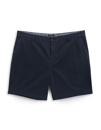 Nautica Big and Tall Cotton Twill Deck Shorts-NAVY-48