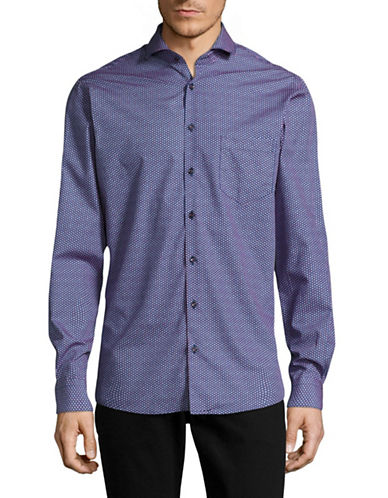 Pure Long Sleeve Fashion Fit Shirt-BLUE-46