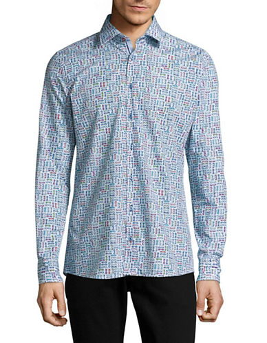 Pure Printed Slim Fit Sport Shirt-MULTI-COLOURED-Medium